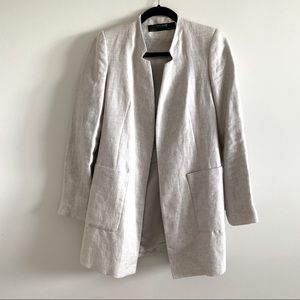 Zara long light jacket with big pockets